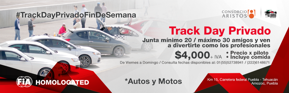 Track Day Privado 20 Personas